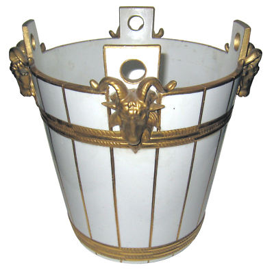 Sevres bucket with goats heads